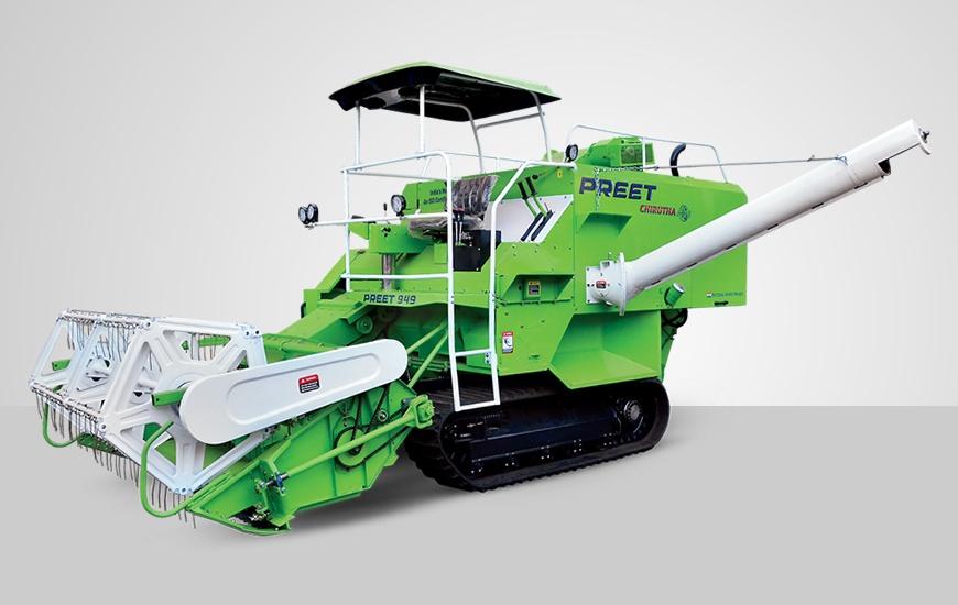 949 track combine harvester