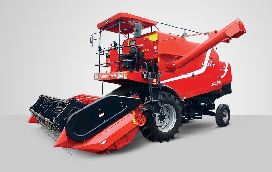 849  multi crop combine harvester