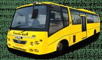 semi low floor school bus