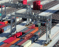 1 over 4 container crane